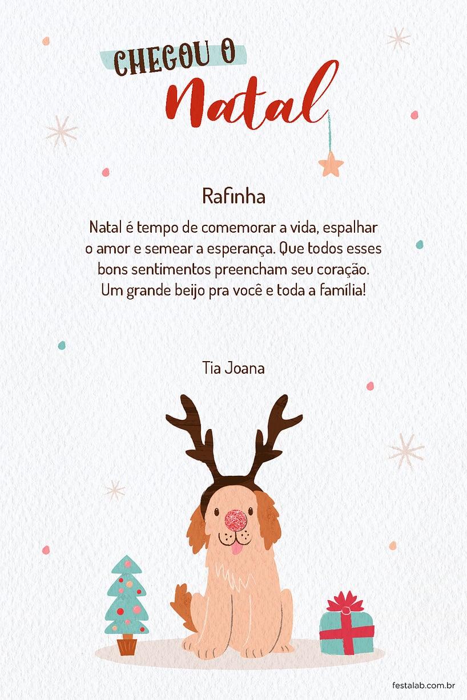 Cartao de Ocasioes especiais - Cachorro Rena