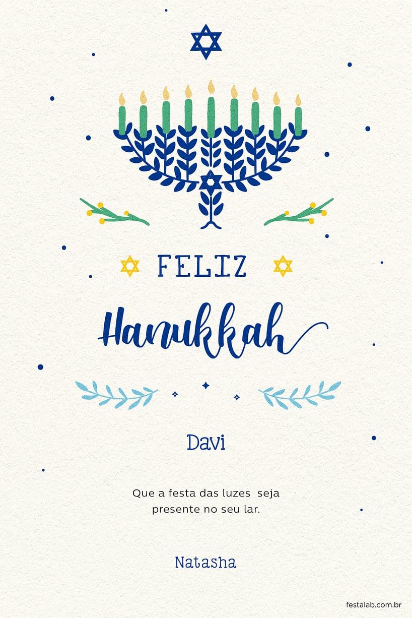Cartao de Ocasioes especiais - Hanukkah