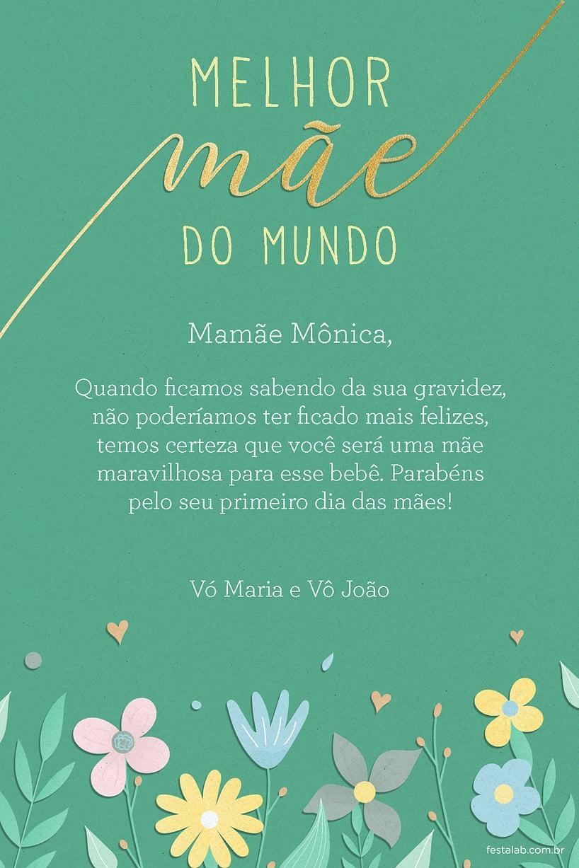 Cartao de Ocasioes especiais - Mae Flores