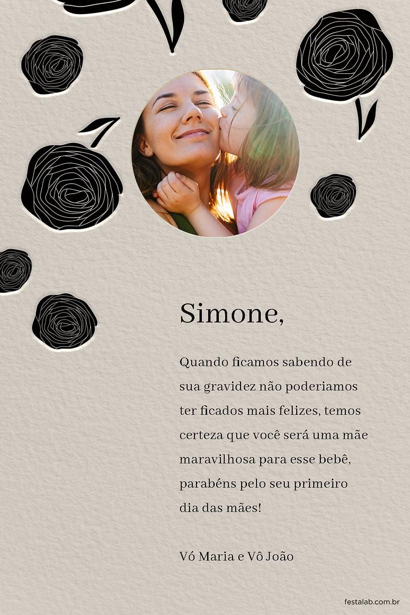 Cartao de Ocasioes especiais - Mae Rosas