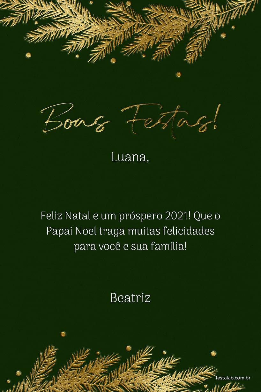 Cartao de Ocasioes especiais - Natal Verde