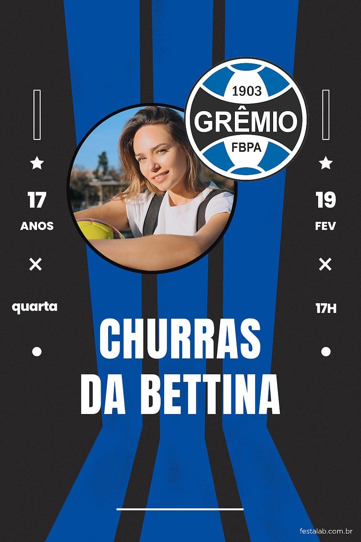 Criar convite de aniversário - Futebol Gremio| FestaLab