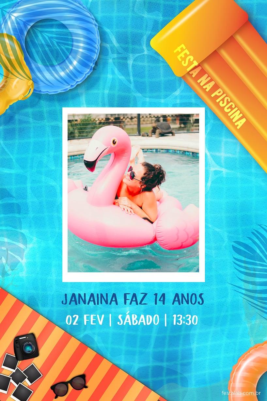 Criar convite de aniversário - PoolParty| Festalab