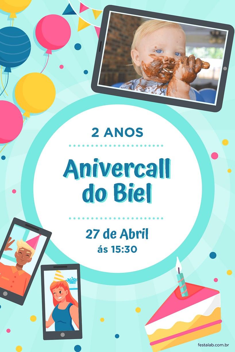 Criar convite de aniversário - anivercall| FestaLab