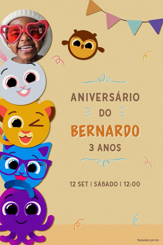 Convite de Aniversario - Bolofofos Surpresa