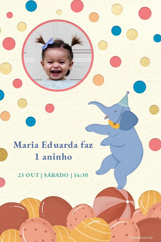 Criar convite de aniversário - Circo| FestaLab