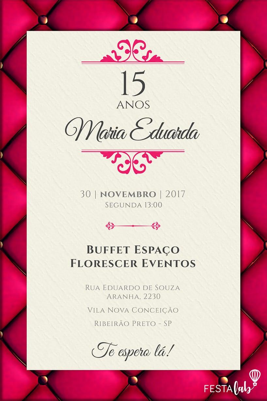 Convite de 15 anos - Debutante Luxo
