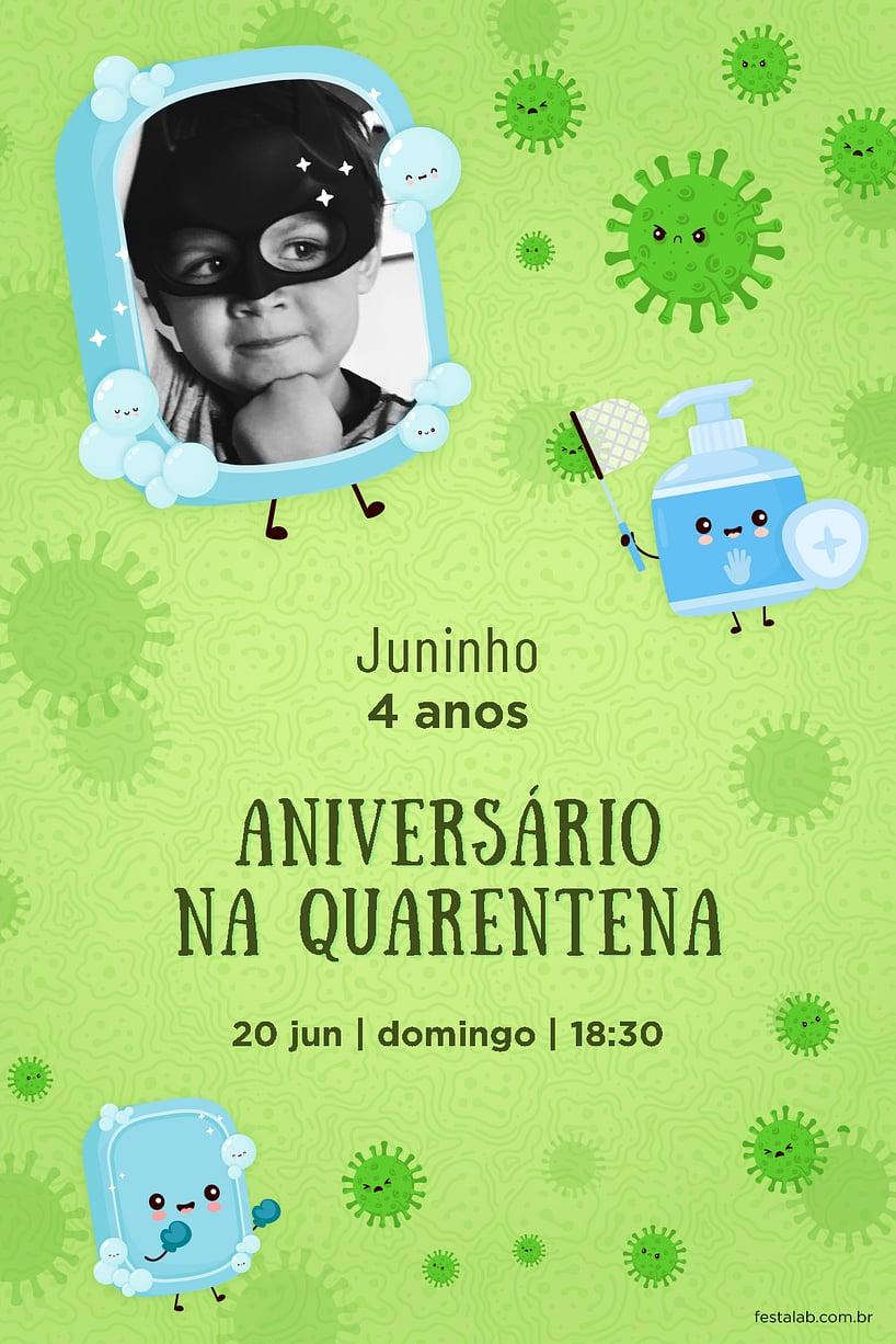 Convite de Aniversario - Encontro quarentena