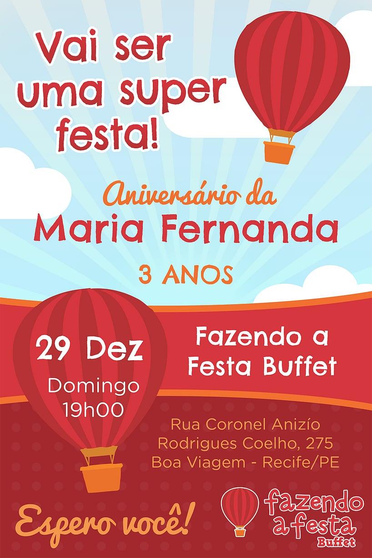 Convite de Aniversario - Fazendo a Festa