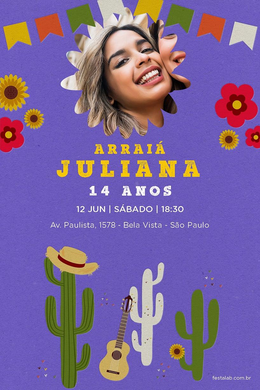 Convite de Aniversario - Festa Junina Nordeste