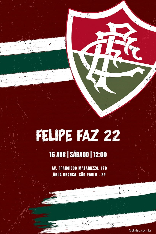 Convite de Aniversario - Fluminense