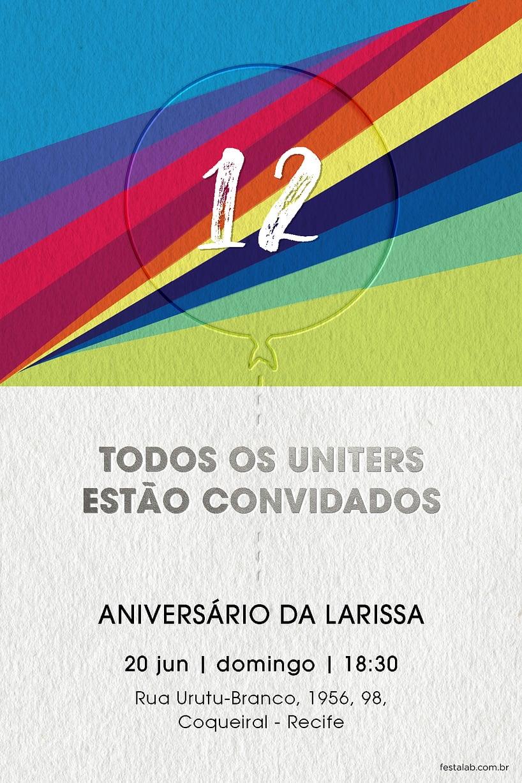 Criar convite de aniversário - Now United branco | Festalab