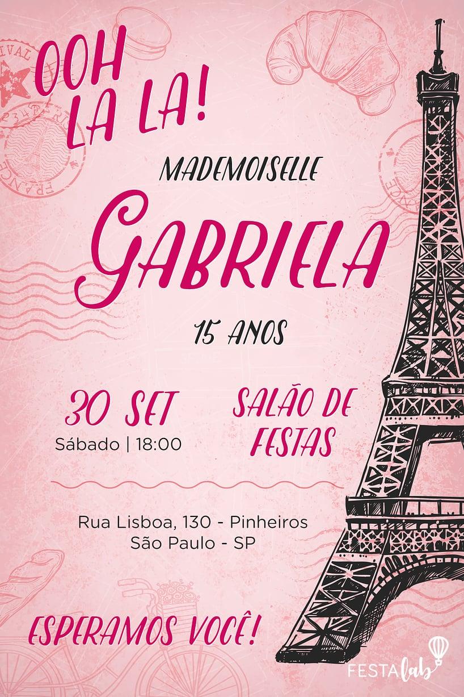 Convite de Aniversario - Paris