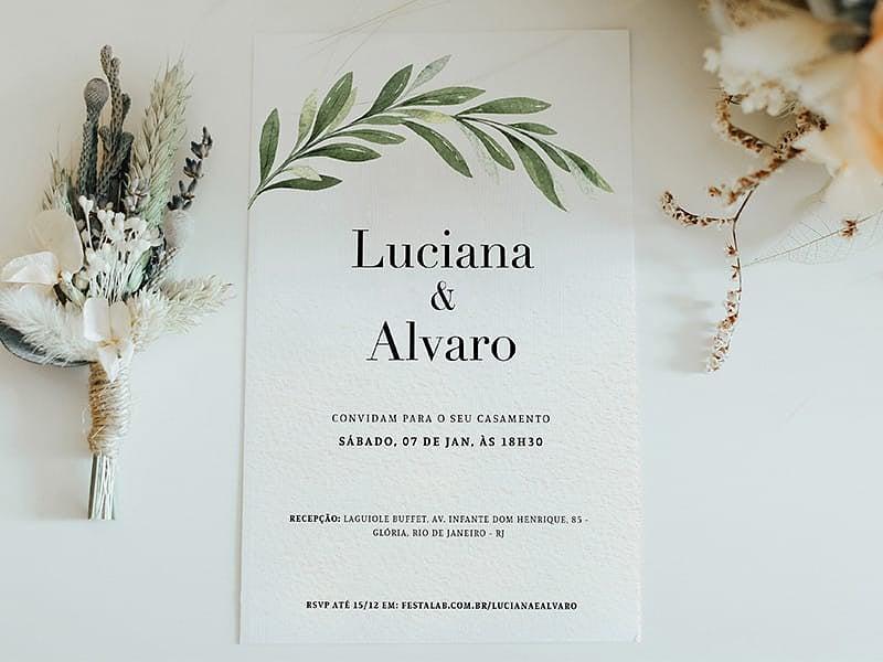 Crie seu convite de casamento - Minimalista Visco  FestaLab