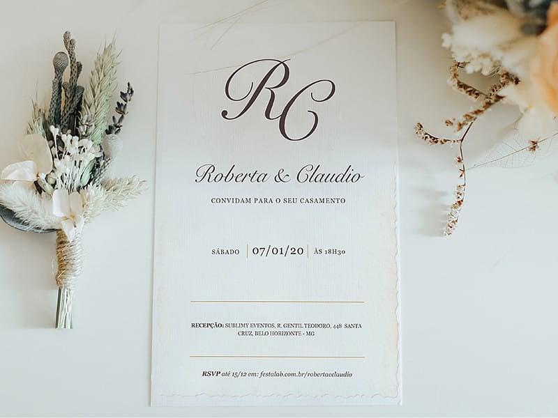 Convite de Casamento - Pergaminho Tradicional