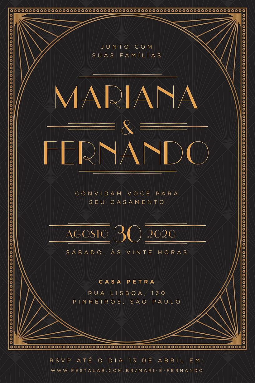 Convite de Casamento - Vintage