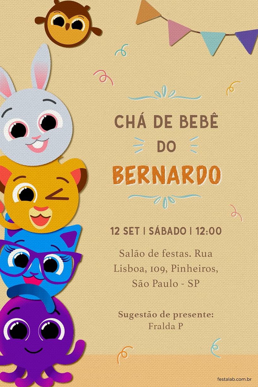 Convite de Cha de bebe - Bolofofos Surpresa