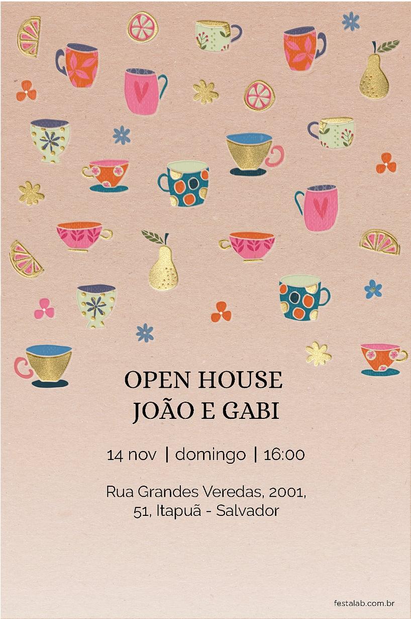 Convite de Cha de panela - Rosa
