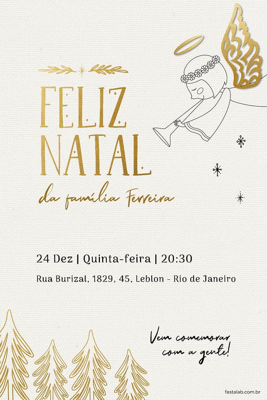 Convite de Ocasioes especiais - Anjinho