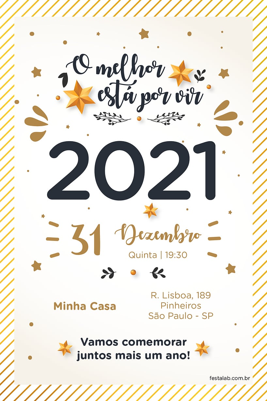 Convite de Ocasioes especiais - Ano Novo