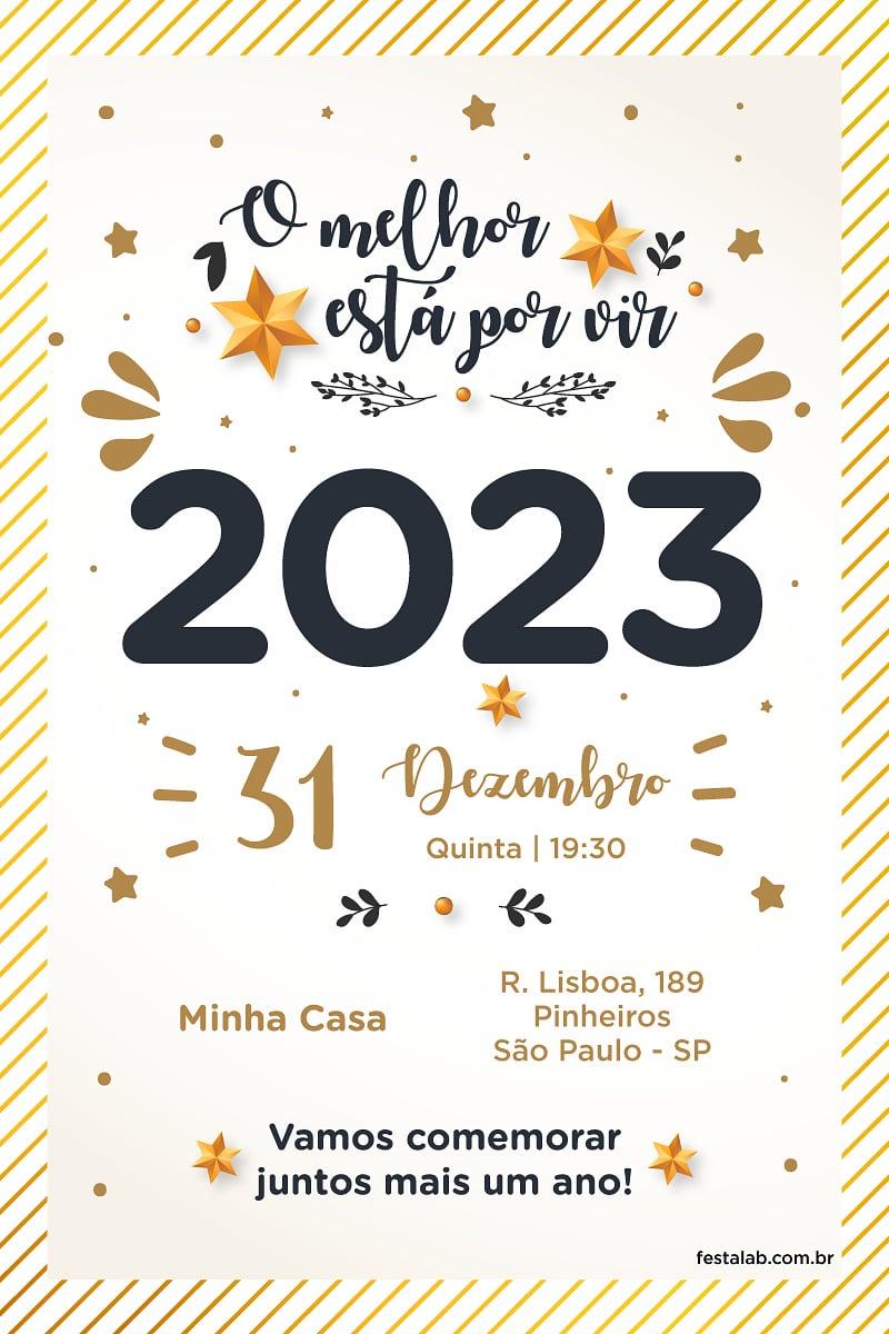 Convite de Ocasioes especiais - Ano Novo 2021