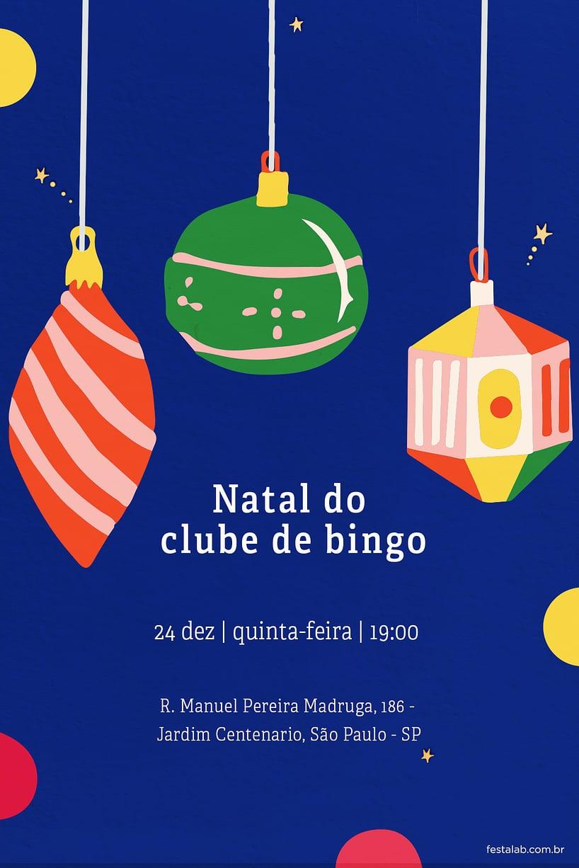 Convite de Ocasioes especiais - Natal Moderno
