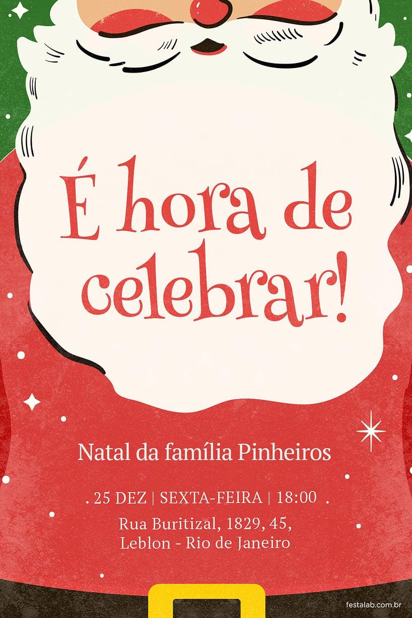 Convite de Ocasioes especiais - Papai Noel