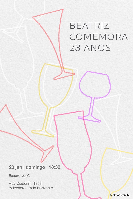 Criar convite de Ocasiões especiais - Coqueteis| Festalab
