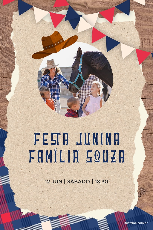 Convite de Ocasioes especiais - Cowboy