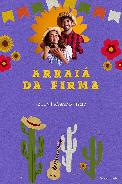 Convite de Ocasioes especiais - Festa Junina Nordeste