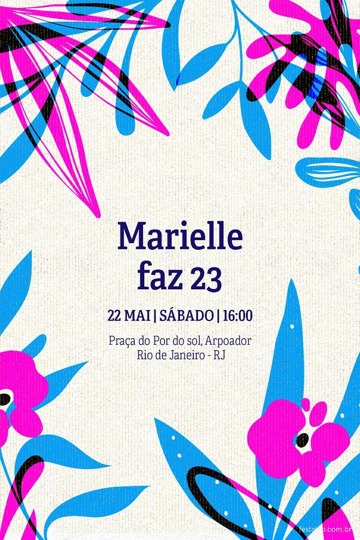 Criar convite de Ocasiões especiais - Floral| Festalab