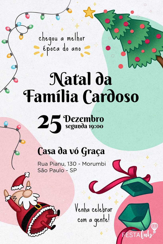 Convite Natal para editar