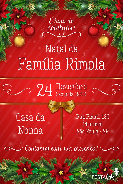 Convite de datas especiais - Natal