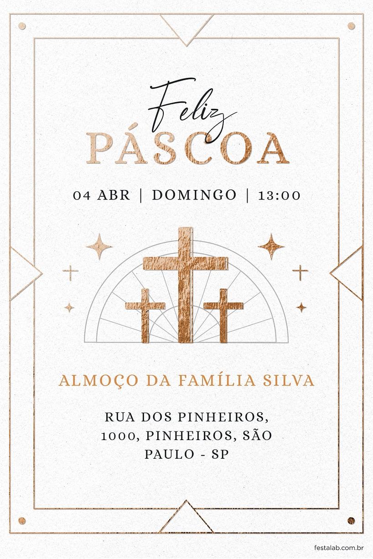 Criar convite de Ocasiões especiais - Páscoa Religioso Branco| FestaLab