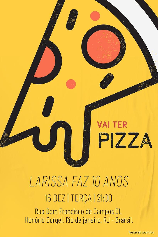 Criar convite de Ocasiões especiais - Pizza Fun| FestaLab