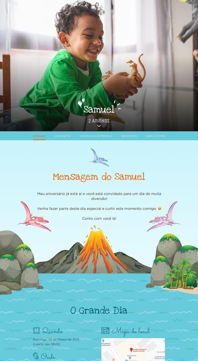 Vibe de Aniversario - Dinossauros