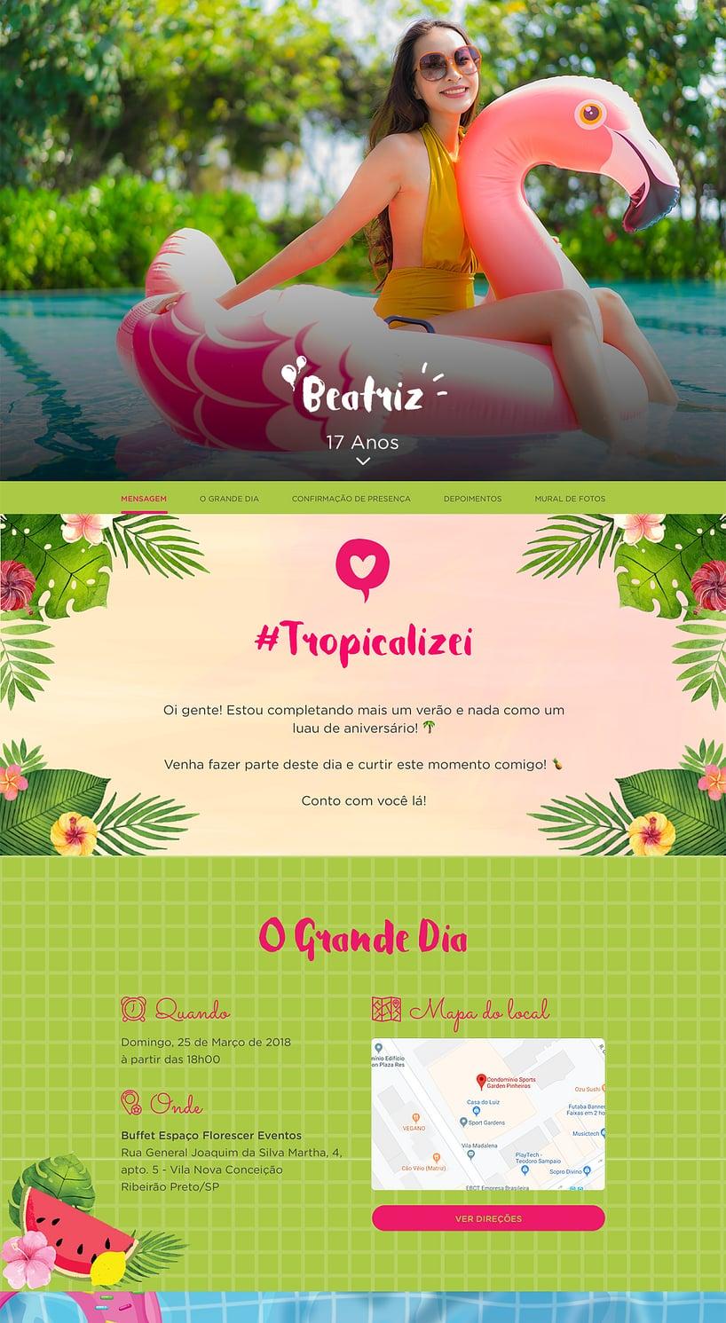 Convite online de aniversário - Flamingo| Festalab