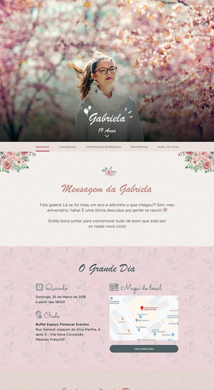 Convite Flores para Editar