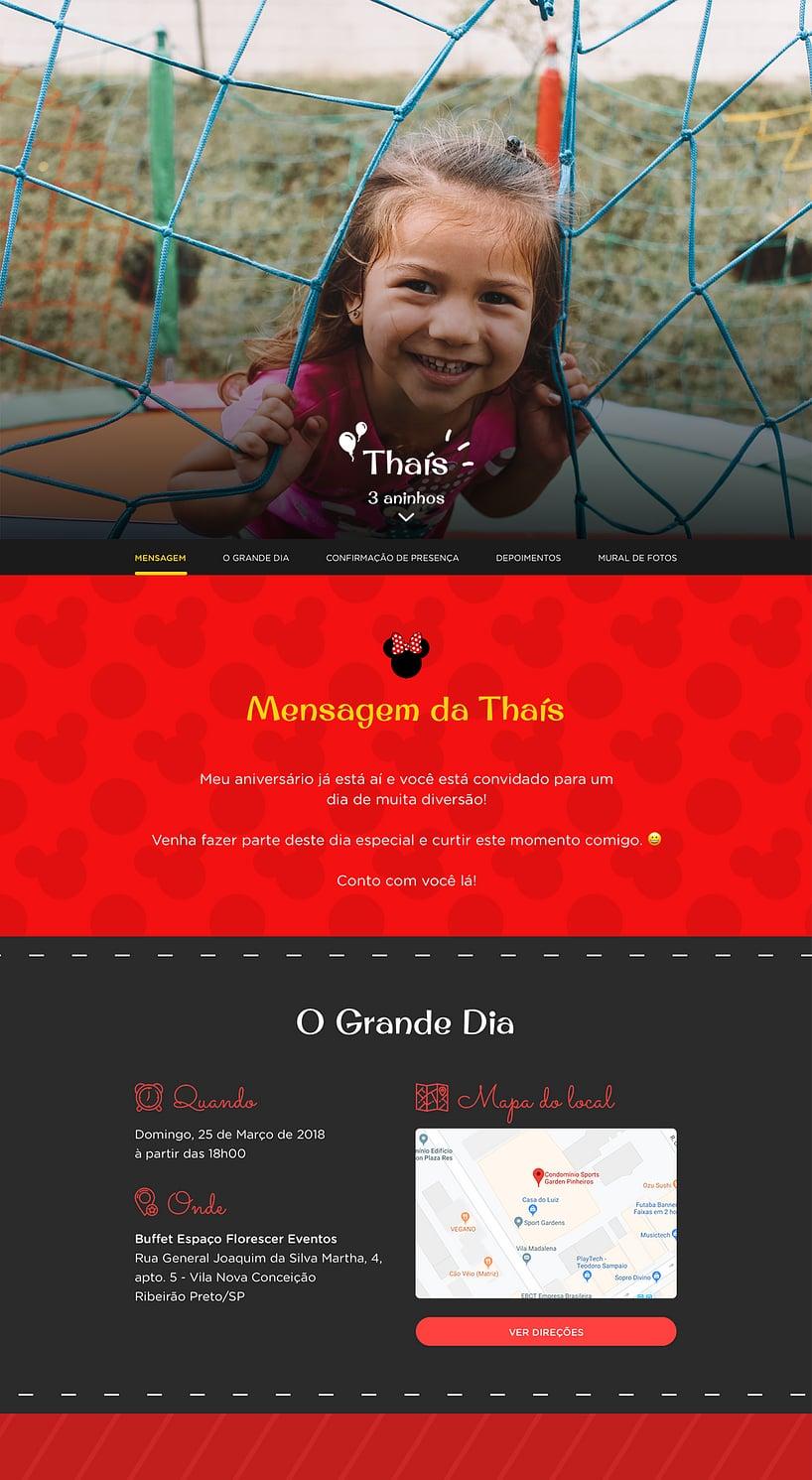 Vibe de Aniversario - Minnie Vermelha