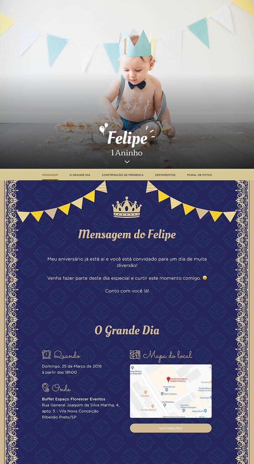Convite online de aniversário - Príncipe Realeza| Festalab