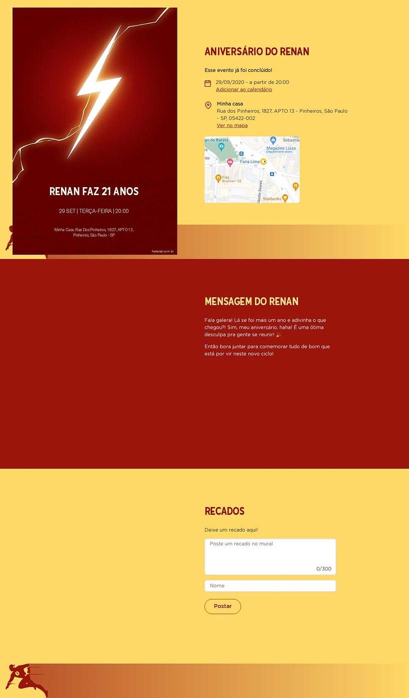 Convite online de aniversário - Flash| FestaLab