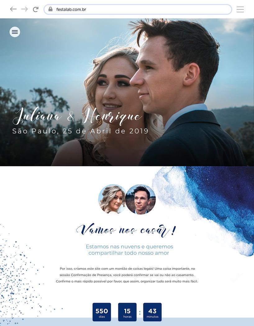 Website de casamento - Aquarela