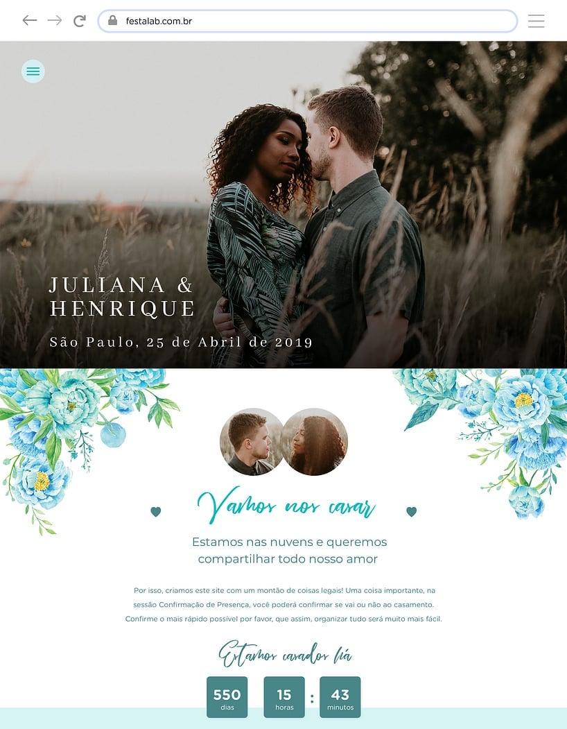 Website de casamento - Floral