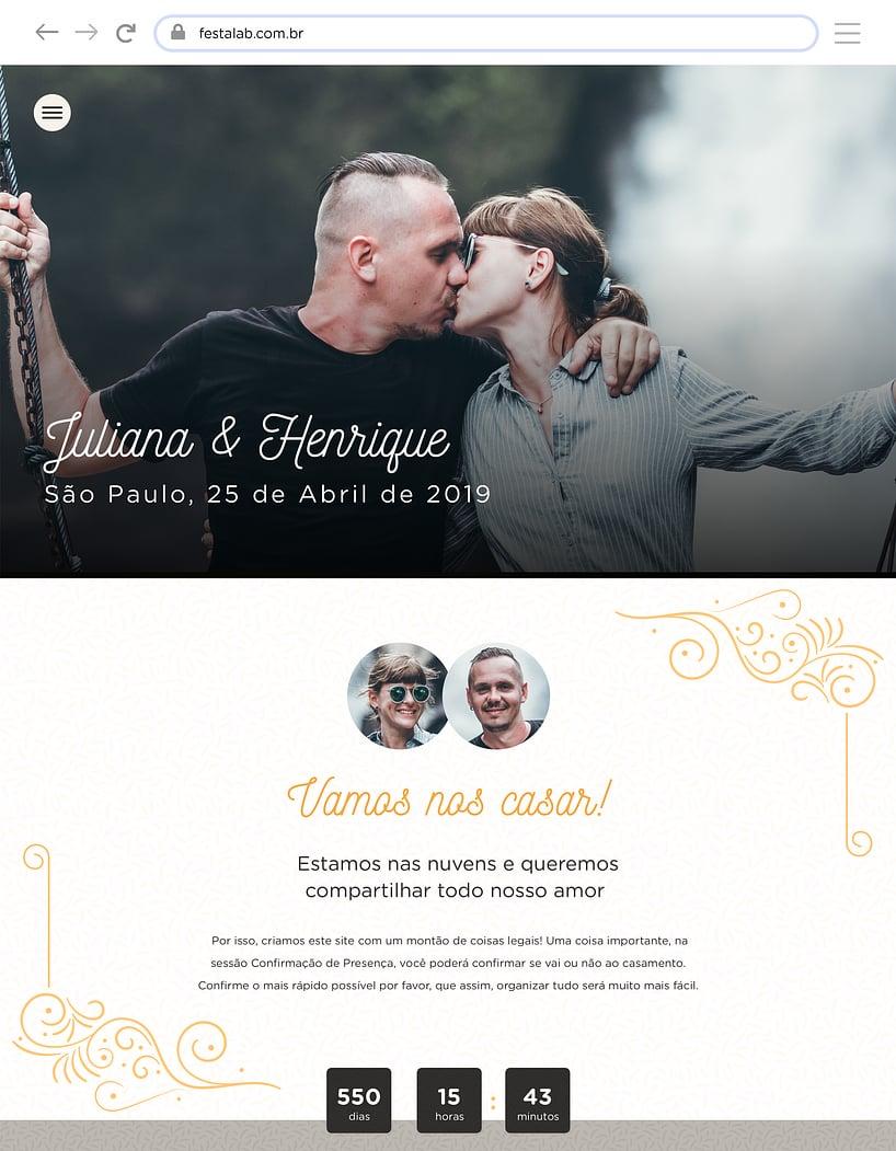 Website de casamento - Rustico