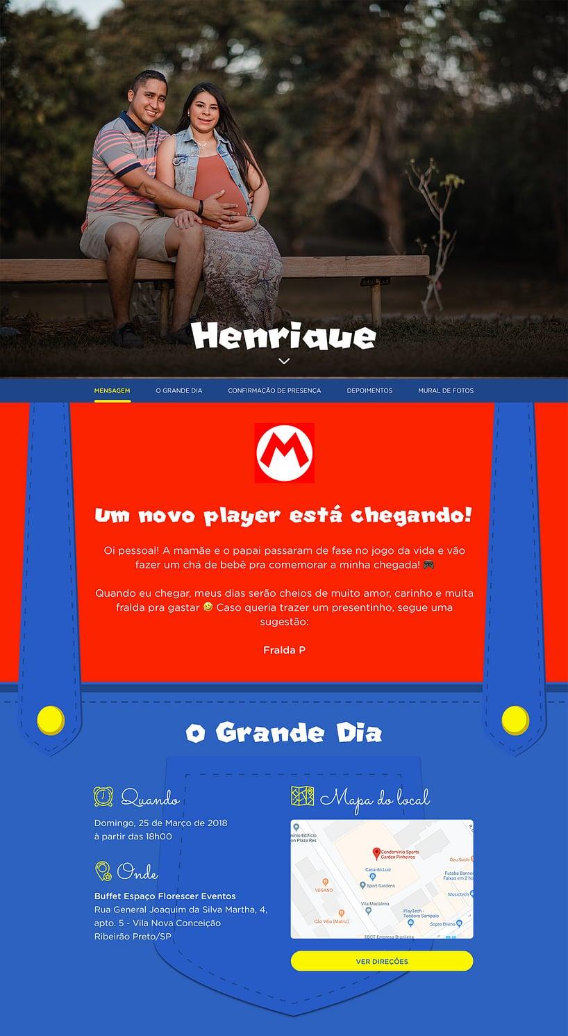 Vibe de Cha de bebe - Mario Bros.