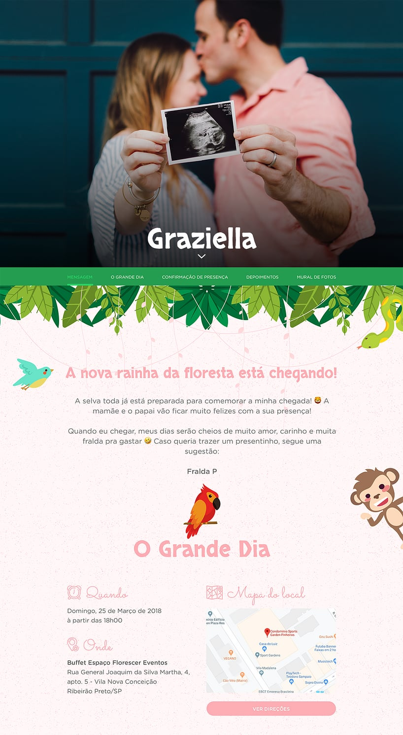 Convite Online Chá de bebê - Safari  | Festalab