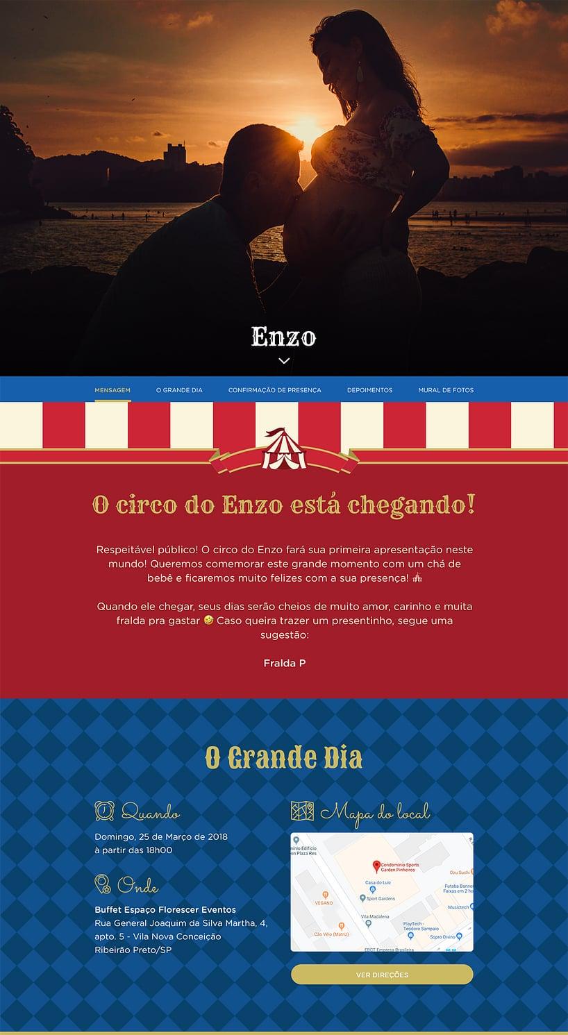 Vibe de Cha de fraldas - Circo