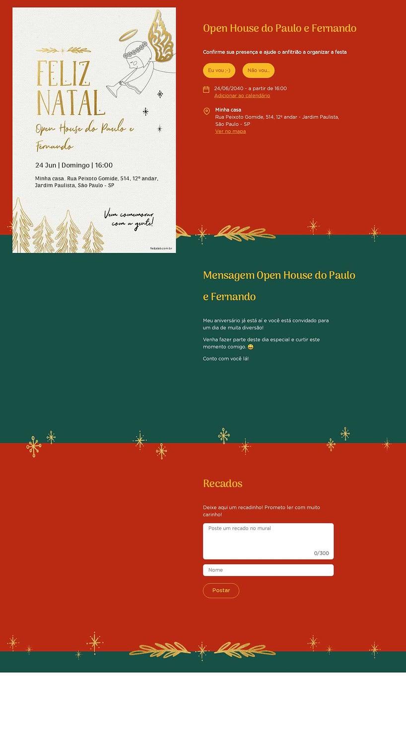 Convite Online Ocasiões especiais - Anjinho   FestaLab
