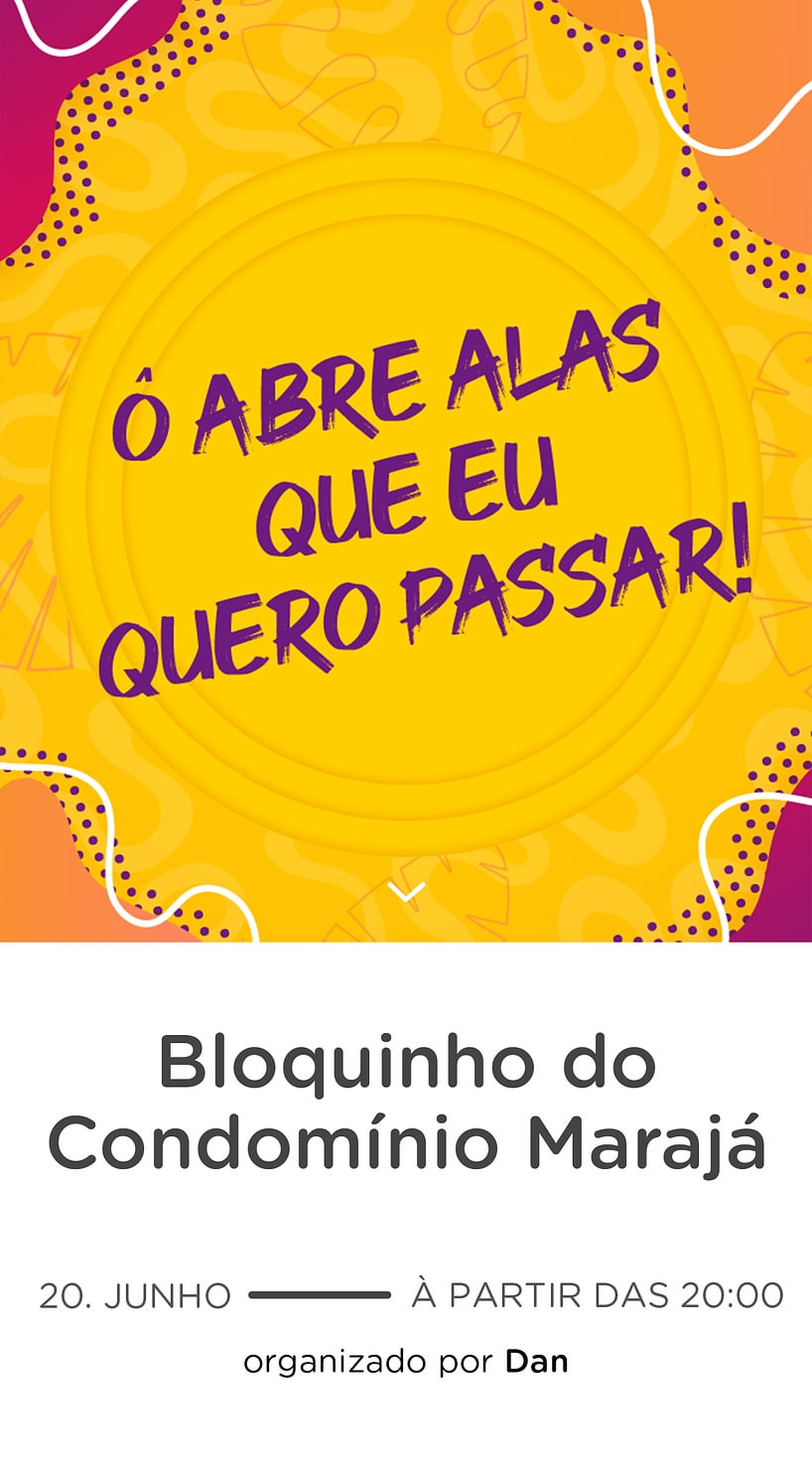Convite Gratis para Editar - Carnaval Bloco