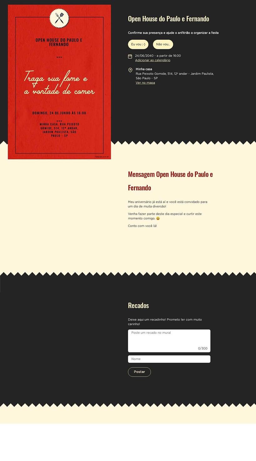 Vibe de Ocasioes especiais - Churrasco Vermelho